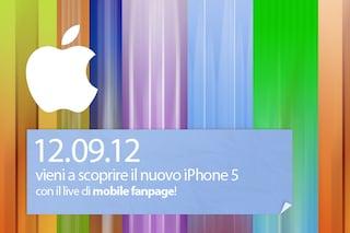 Nuovo iPhone 5: segui la presentazione in diretta con Mobile Fanpage