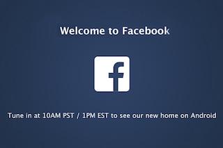 Ha inizio il Facebook Android Event [DIRETTA TERMINATA]