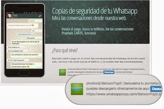 Balloon Pop 2, rimossa dal Play Store l'app per spiare WhatsApp