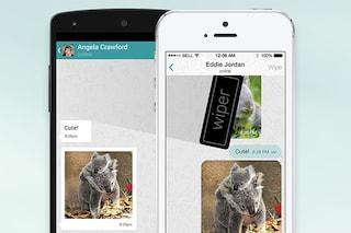 Wiper, l'app di messaggistica per cancellare le conversazioni anche nel telefono del ricevente