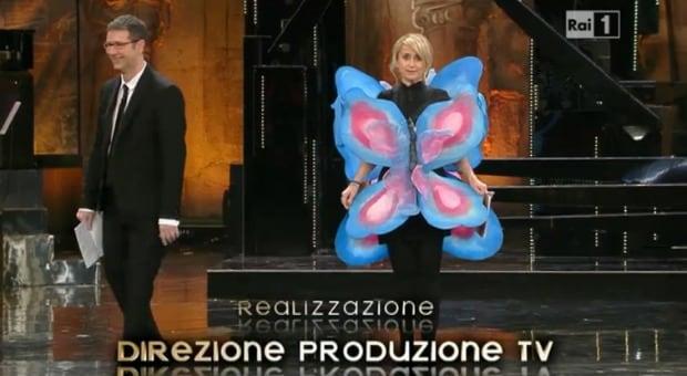 luciana littizzetto belen farfalla