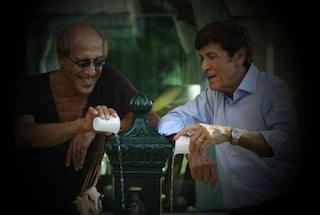 Gianni Morandi e Adriano Celentano fotografati da Claudia Mori