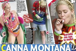 """Miley Cyrus con lo spinello """"barcolla ma non molla"""""""