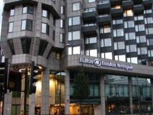 "La location della tappa londinese:  ""Hilton London Metropolitan"""