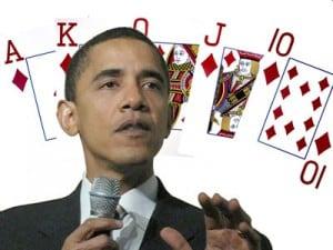 obama barack poker