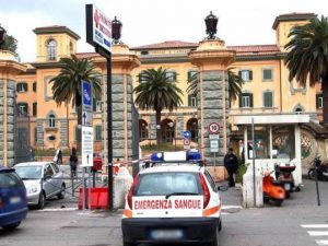 L'ingresso del Pronto Soccorso dell'ospedale San Camillo