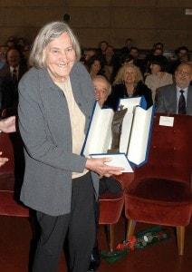 Margherita Hack esattamente dieci anni fa, in occasione dei festeggiamenti per i suoi 80 anni.