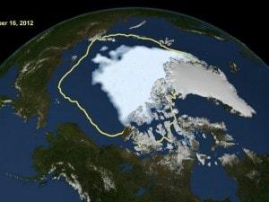 artico record negativo per lo scioglimento dei ghiacciai