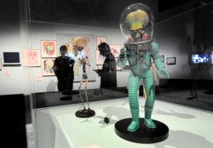 A martian looks out over an major exhibi