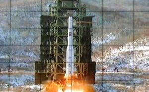 Il lancio del missile Unha–3 che ha portato in orbita il primo satellite nordcoreano lo scorso dicembre.