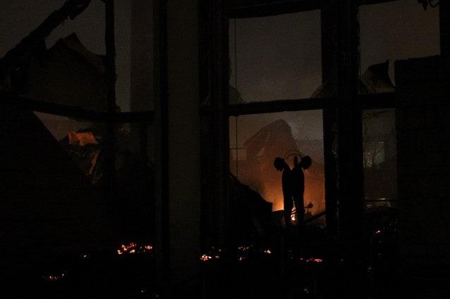 Incendio nella città della scienza di Napoli