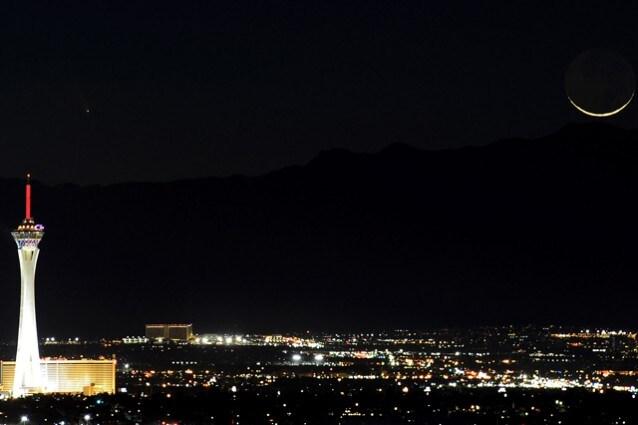 PanSTARRS Comet Over Las Vegas
