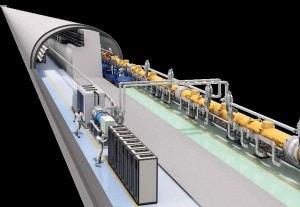 Al centro del tunnel si scontreranno due fasci di particelle, uno di elettroni e uno di positroni, fino a 500 GeV di energia.