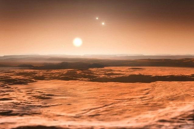Rappresentazione artistica del sistema di Gliese 667 C (foto ESO)
