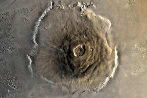 L'Olympus Mons su Marte.