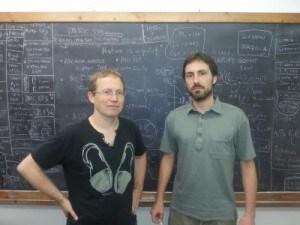 Joaquim Matias e Javier Virto dell'Università Autonoma di Barcellona, membri del team dell'esperimento LHCb.
