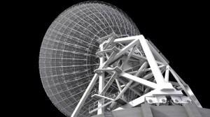 Un rendering dell'antenna di SRT (fonte: INAF).
