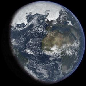 La Terra durante l'ultima era glaciale.