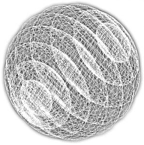 Un'ipersfera, ossia una sfera a quattro dimensioni.