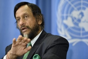 Il premio Nobel per la Pace e presidente dell'IPCC, l'indiano Raiendra Kumar Pachauri.