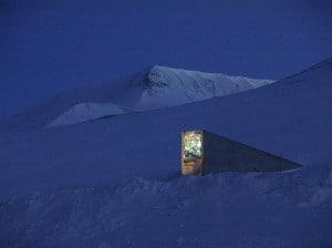 L'ingresso della Svalbard Global Seed Vault.