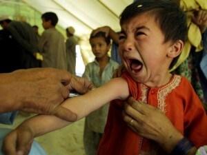 Piccola paziente vaccinata con trivalente