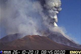 Eruzione dell'Etna del 26 ottobre, preannunciata da due scosse di terremoto