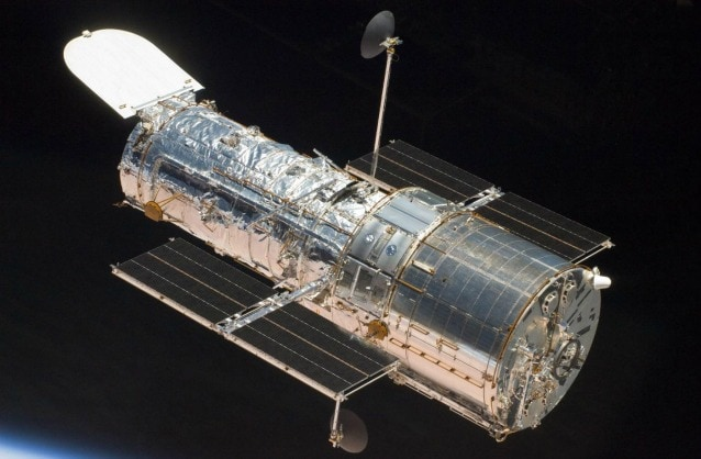 Rappresentazione artistica di Hubble nello spazio