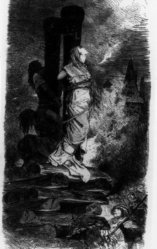 La morte sul rogo era la più frequente per le streghe
