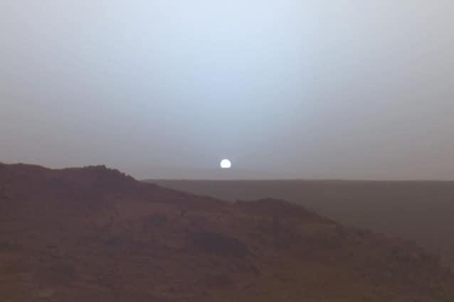 Tramonto marziano ripreso dalla sonda Spirit.