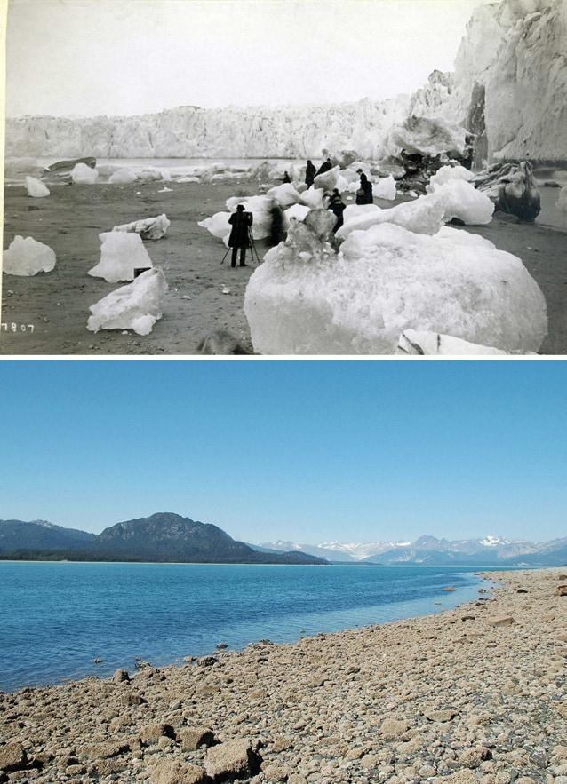 Sopra: 1880–1890. Sotto: 11 agosto 2005.