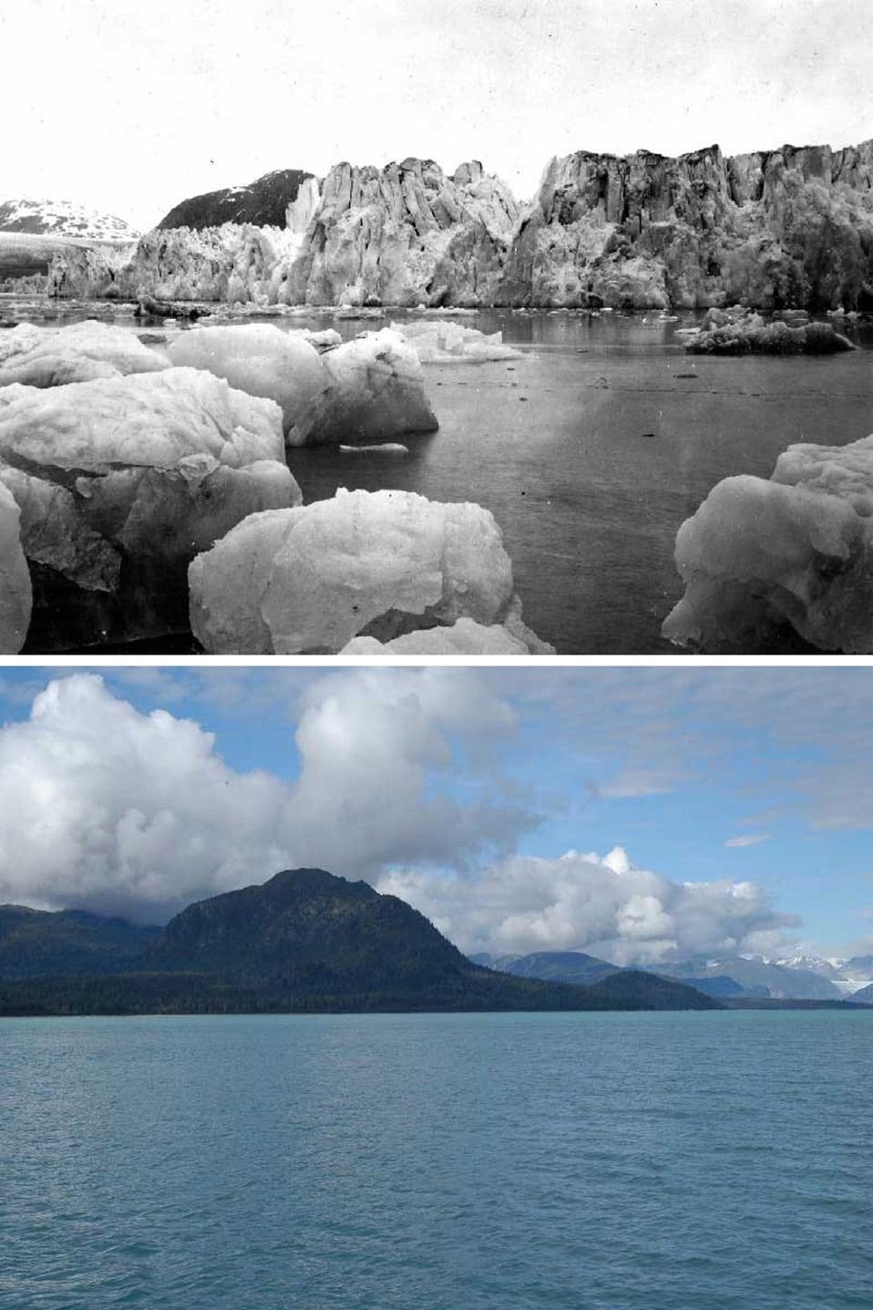 Sopra: giugno 1899; Sotto: settembre 2003.