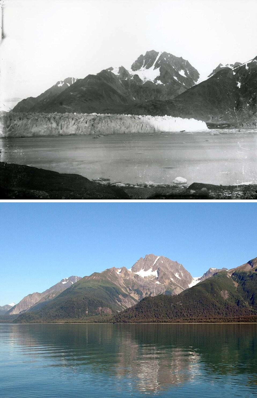 Sopra: 2 settembre 1892; Sotto: 11 agosto 2005.