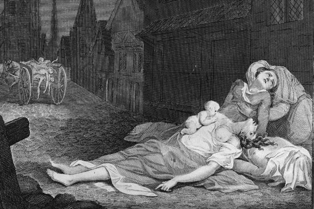 Drammatica raffigurazione di Londra nel 1665 durante l'epidemia di peste.