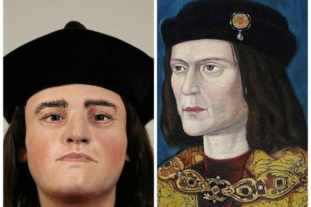 La ricostruzione del volto effettuata a partire dal teschio confrontata con un ritratto di Riccardo III