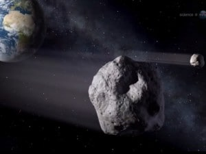 Illustrazione Nasa di un asteroide.