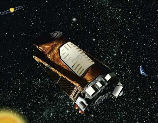 Rappresentazione artistica di Kepler nel suo angolo di spazio