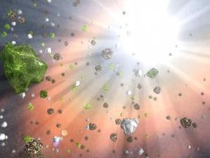 Rappresentazione di un quasar secondo la Nasa.