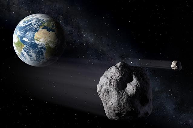 Simulazione generica della Nasa sul passaggio di asteroidi in prossimità della Terra.
