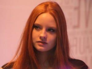 La modella tedesca Barbara Meier.