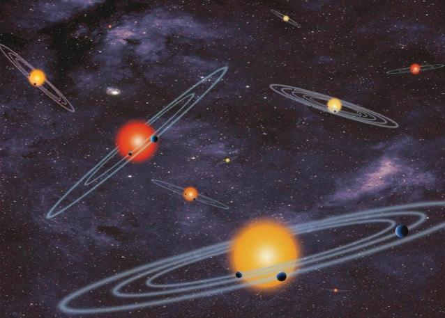 Il nostro universo è popolato da sistemi stellari.