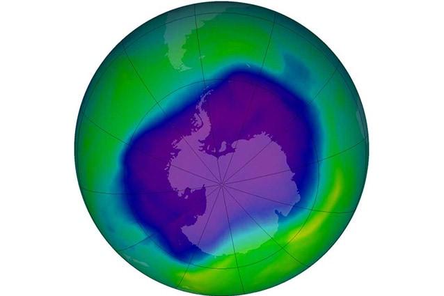 Nel 2007 il più grande buco dell'ozono sull'Antartico (Foto Nasa).