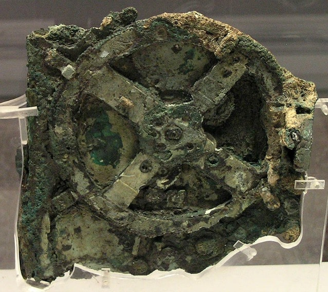 Frammento principale della macchina di Anticitera (via Wikipedia)