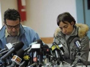 mauro e fulvia gambirasio i genitori di Yara fotografati durante l'appello del 28 dicembre 2010