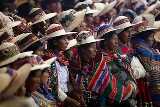 Il presidente boliviano Evo Morales partecipa alle celebrazioni degli indigeni [VIDEO]