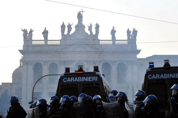 gli scontri nella capitale