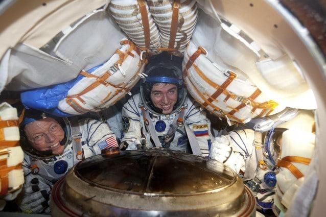 Il rientro del razzo spaziale Soyuz