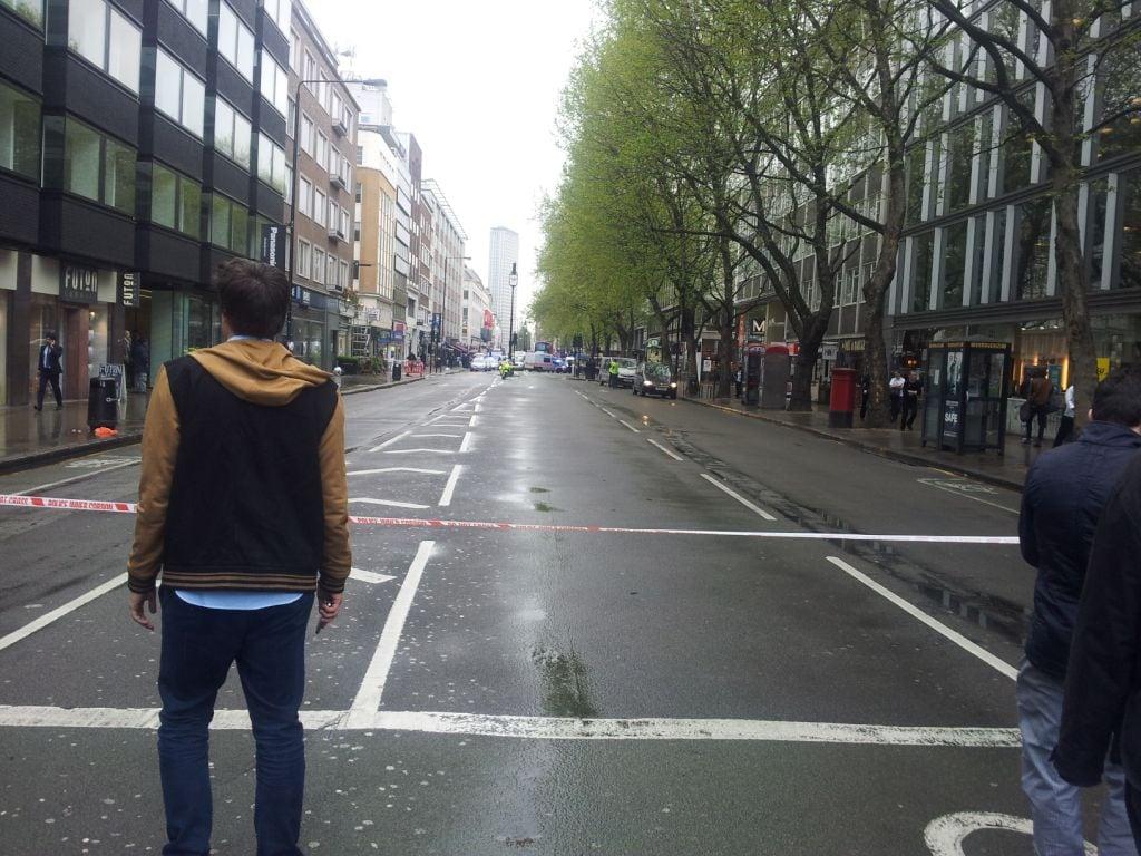 Tottenham Court Road chiusa