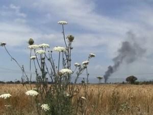 le terre di don peppe diana bruciano in un incendio