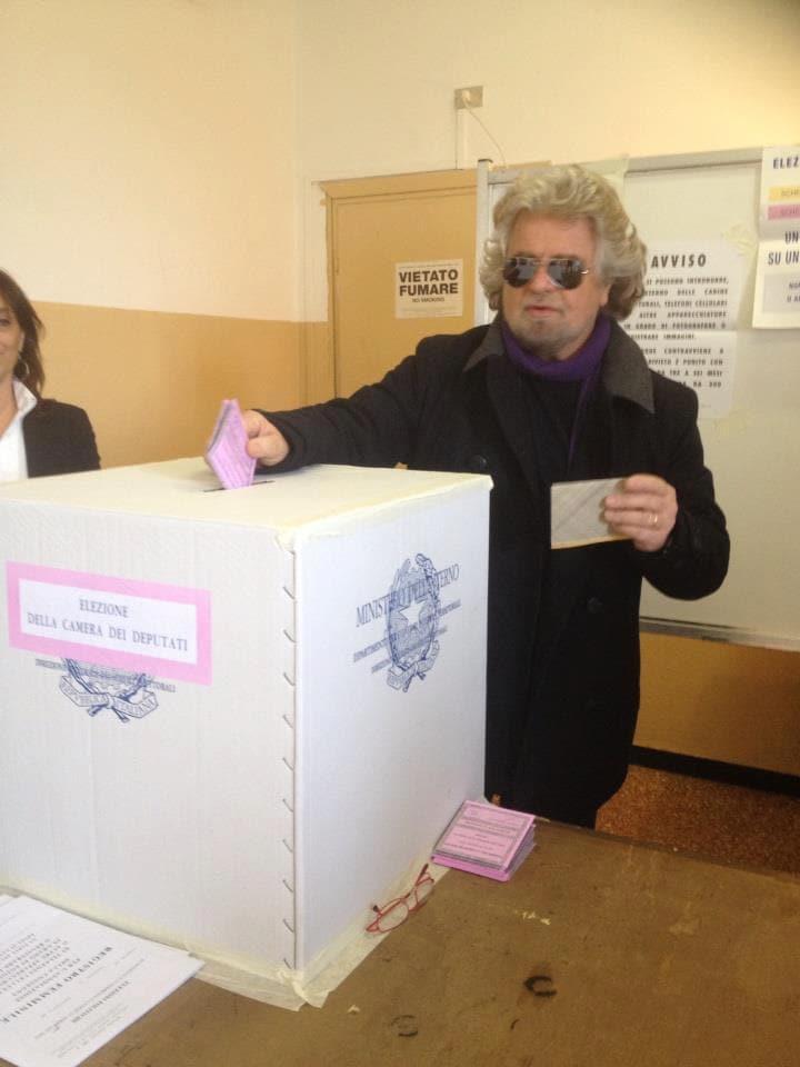 grillo vota